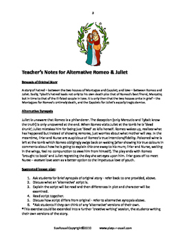 Alternative Romeo and Juliet guided reading script or Readers Theater