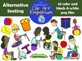 Alternative Seating Clip Art - The Schmillustrator's Clip