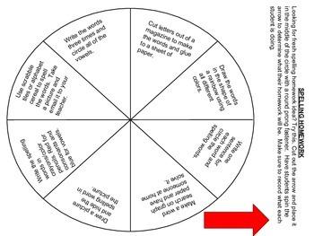 Alternative Spelling Homework Idea