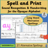 Alternative Spelling and Handwriting Practice for Long Vowel Sounds | SASSOON