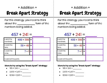 Alternative Strategies for Addition and Subtraction