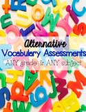 Alternative Vocabulary Assessments – Activate Higher Order