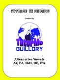 Alternative Vowels AY EA IE OE EW