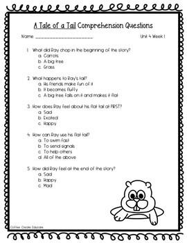 Alternative Wonders Kid Friendly Assessments-Unit 4