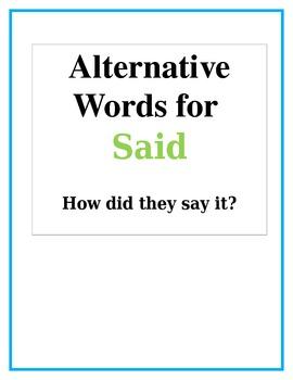 Alternative Words for Said