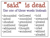 Alternative Words for Said and Good
