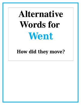 Alternative Words for Went