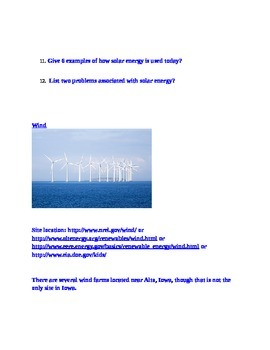 Alternative vs Traditional Energy Source Webquest