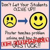 Alternatives to Giving Up Poster - Easy-to-Print 11 x 17 - SPANISH