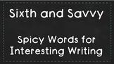 Alternatives to Overused Words- Chalkboard Theme