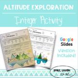 Altitude Exploration: Real World Integer Activity