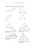 Altitude/ Height practice in triangles