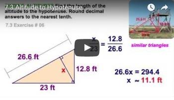 Altitude to Hypotenuse Worksheet