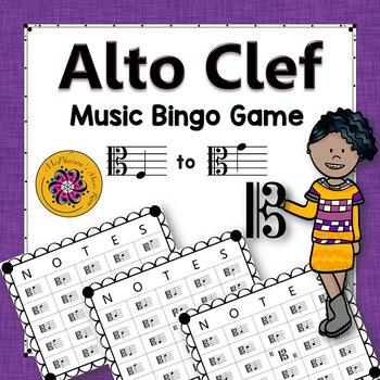 Alto Clef Music Bingo Game