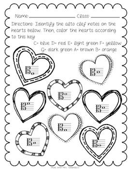 Alto Clef Note Identification: Valentine's Heart Theme