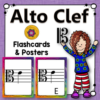 Alto Clef Note Name Flashcards & Music Room Décor
