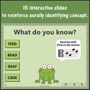 Alto Clef Note Names Interactive Music Game + Assessment  {Froggy Fun}