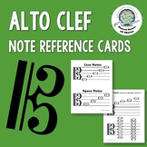 Alto Clef Note Reference Cards