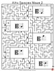 Music Games: 12 Alto Clef Spaces Mazes: Music Puzzles