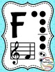 Alto Recorder Fingering Chart Posters v3 HOLES - Music Decor Rainbow Brights