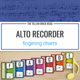 Alto Recorder Fingering Charts