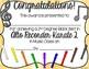 Alto Recorder Karate / Dojo Volume 2 Certificates