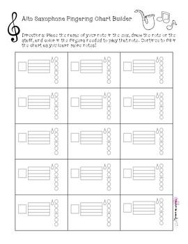 Alto Saxophone Fingering Chart Builder