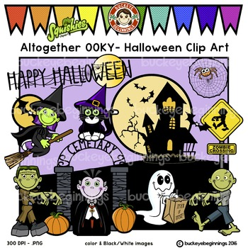 Altogether OOKY - Halloween Clip Art - Adorable Squishies