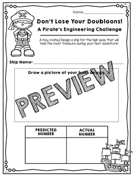 Aluminum Boat Engineering Activity - Pirate Theme