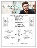 Alvaro Soler & Jennifer Lopez - 'El Mismo Sol' Cloze Song Sheet