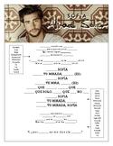 Alvaro Soler - 'Sofia' Cloze Song Sheet! Spanish