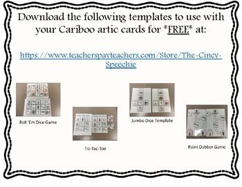 Alveolar-Alveolar Sequence Cariboo pictures (1, 2, & 3-syllables) for Apraxia