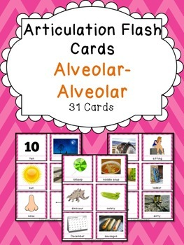Apraxia & Articulation Cards Alveolar-Alveolar
