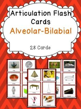 Apraxia & Articulation Cards Alveolar-Bilabial