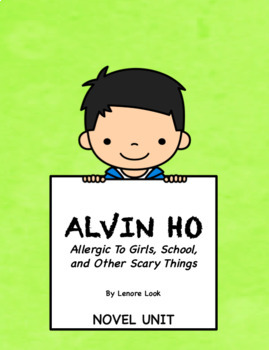 Alvin Ho Novel Unit-Common Core Aligned