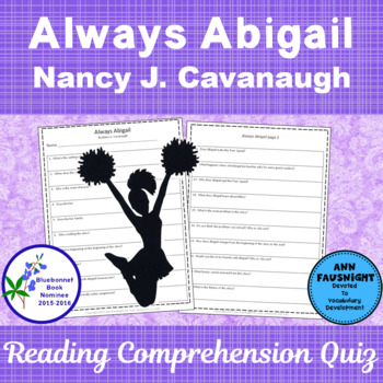Always Abigail: A Reading Comprehension Quiz and activity