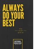 Always Do Your Best Motivation Poster