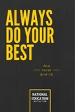 Always Do Your Best Motivation Poster