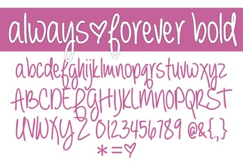 Always Forever Bold Font for Commercial Use