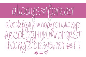 Always Forever Font Family for Commercial Use