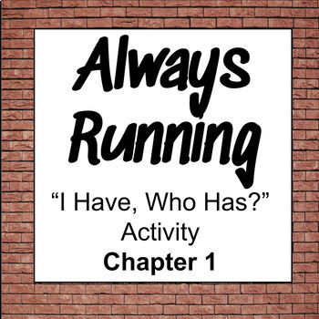 """Always Running: """"I Have, Who Has?"""" Ch 1 Trivia Activity"""