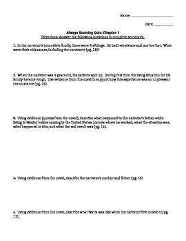 Always Running Quiz Chapter 1