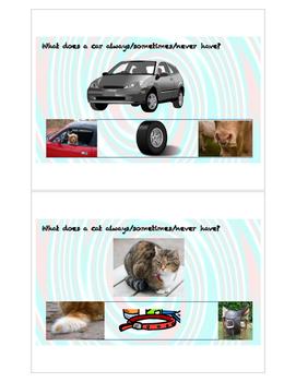 Always-Sometimes-Never Concept Task Cards