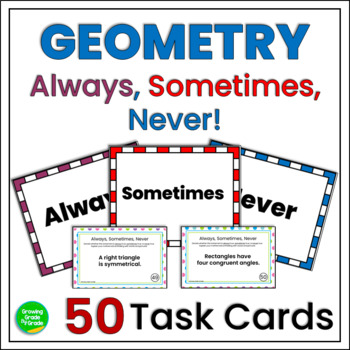 Always Sometimes Never Geometry Task Cards