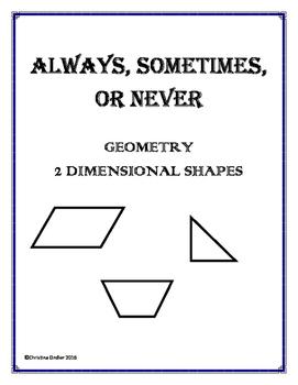 Always, Sometimes, Never- Geometry
