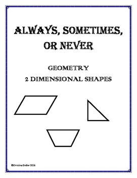 Always, Sometimes, Never- Geometry