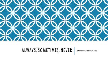 Always, Sometimes, Never Sets