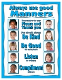 Always Use Good Manners Poster - PBIS