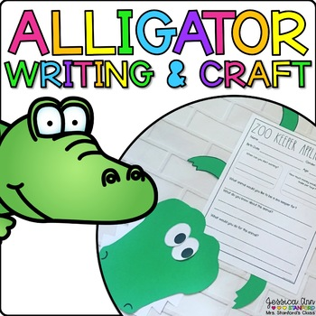 Alyson the Alligator {Animal Craftivity and Writing Prompts!}