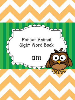 Am - Forest Animal Sight Word Book